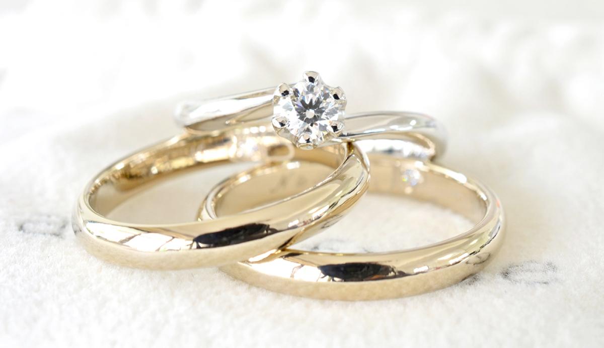 結婚指輪と婚約指輪が完成